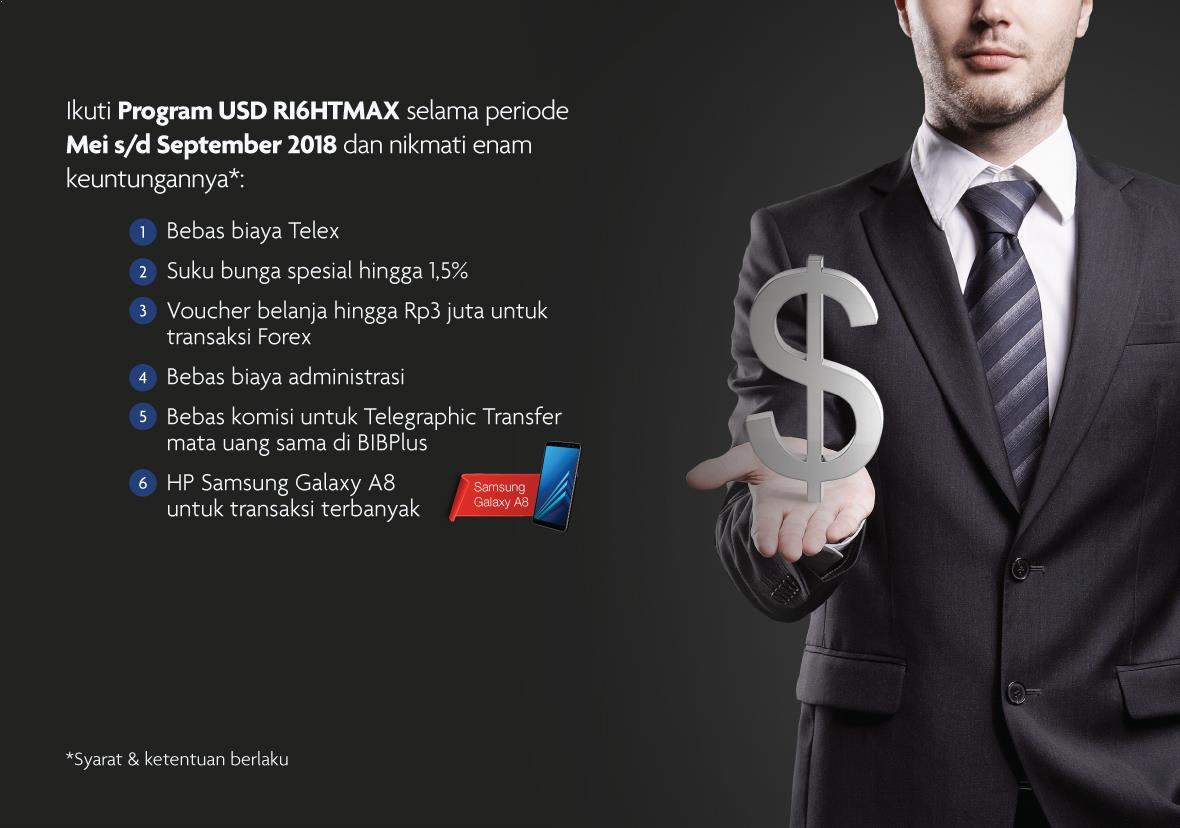 Ikuti USD RI6HTMAX Program selama periode Mei s/d September 2018