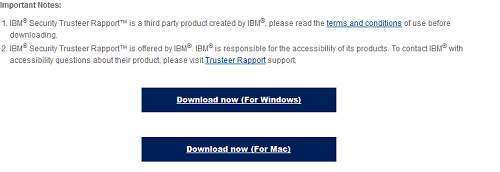 Download button IBM Trusteer Rapport