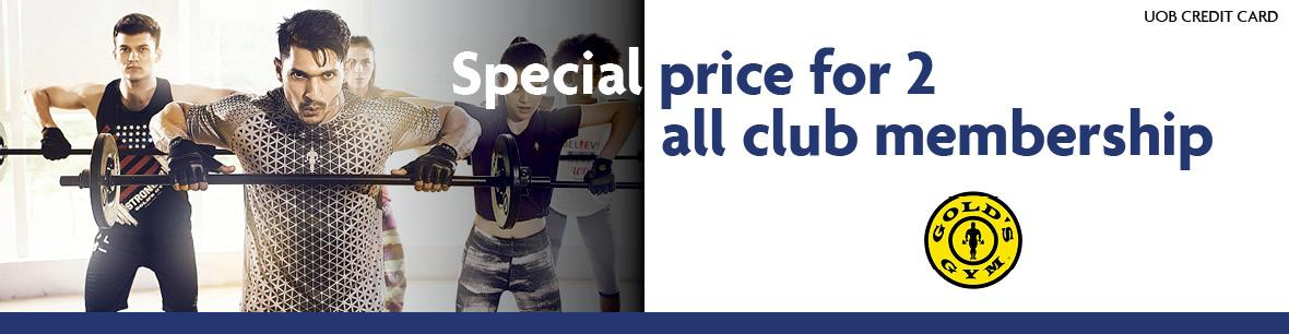 Program Special Price for 2 All Club Membership