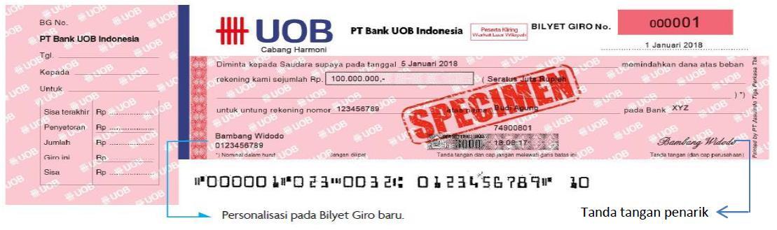 Uob Indonesia Giro Rupiah